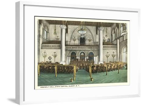 Assembly Hall, Albany--Framed Art Print