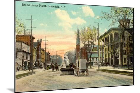 Broad Street North, Norwich--Mounted Art Print