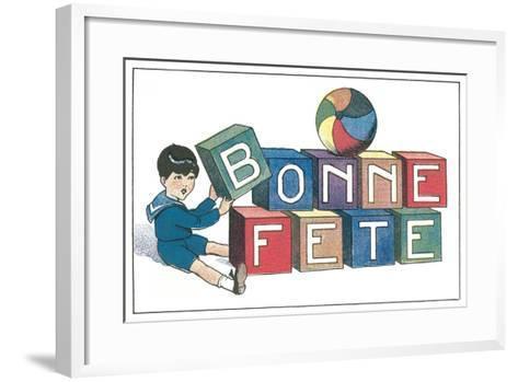 Bonne Fete, French Blocks--Framed Art Print