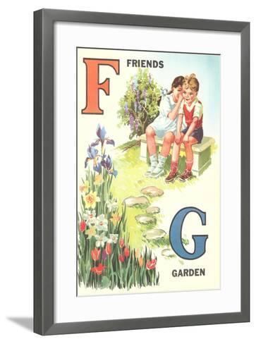 F for Friends, G for Garden--Framed Art Print