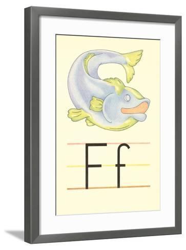 F Is for Fish--Framed Art Print