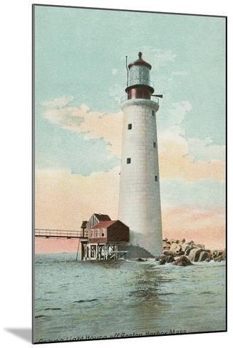 Graves Lighthouse, Boston Harbor--Mounted Art Print