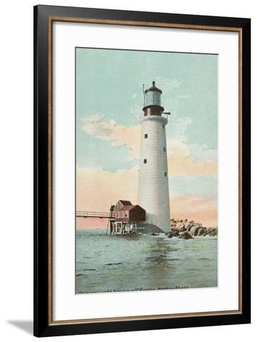 Graves Lighthouse, Boston Harbor--Framed Art Print