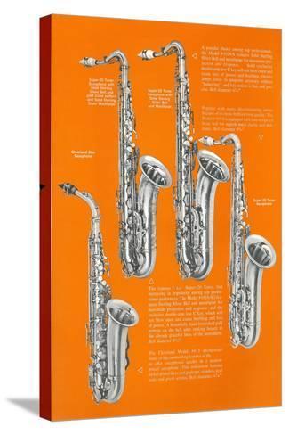 Four Saxophones--Stretched Canvas Print
