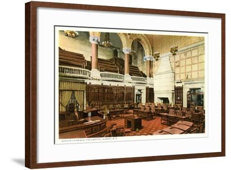 Senate Chamber, Albany--Framed Art Print