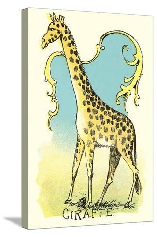 Giraffe Drawing--Stretched Canvas Print