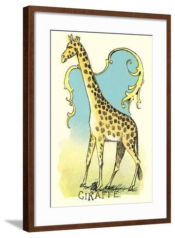 Giraffe Drawing--Framed Art Print