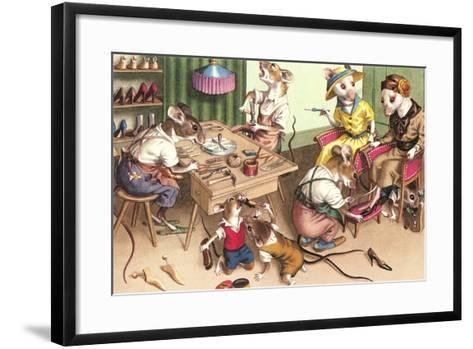 Mice in Cobblers Shop--Framed Art Print