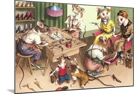 Mice in Cobblers Shop--Mounted Art Print