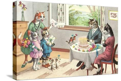 Crazy Cats Birthday Party--Stretched Canvas Print