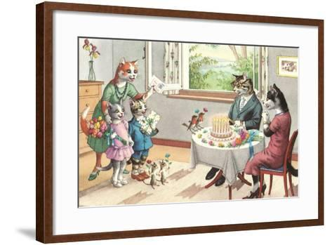 Crazy Cats Birthday Party--Framed Art Print