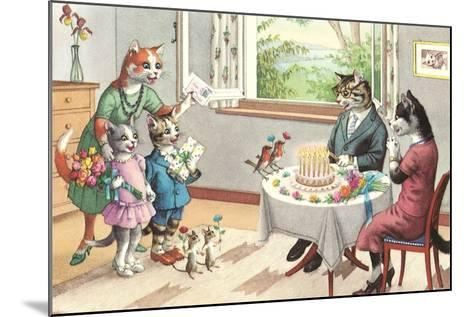 Crazy Cats Birthday Party--Mounted Art Print
