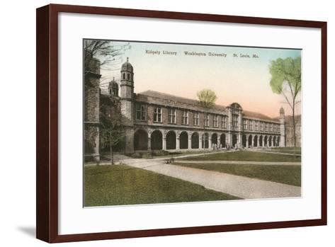 Ridgely Library, Washington Universitiy, St. Louis--Framed Art Print