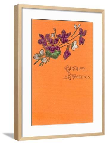 Old Fashioned Birthday Greetings--Framed Art Print