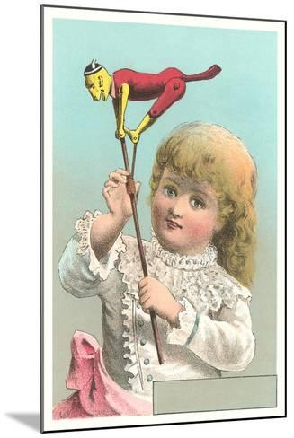 Victorian Girl with Puppet--Mounted Art Print