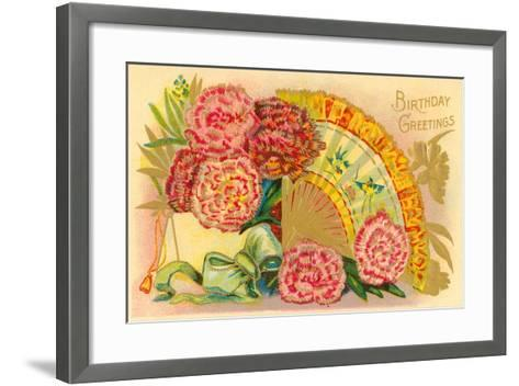 Vintage Birthday Greetings--Framed Art Print