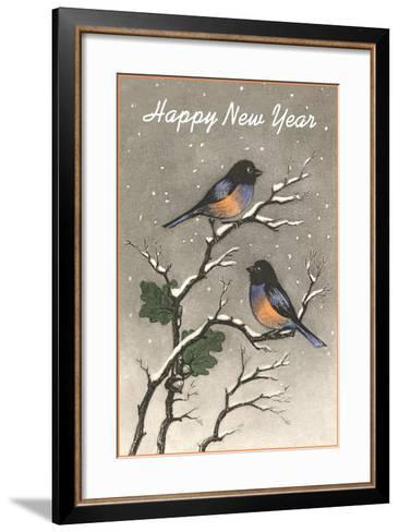 Birds in Snow--Framed Art Print