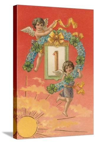 Cherubs Unveil January First--Stretched Canvas Print