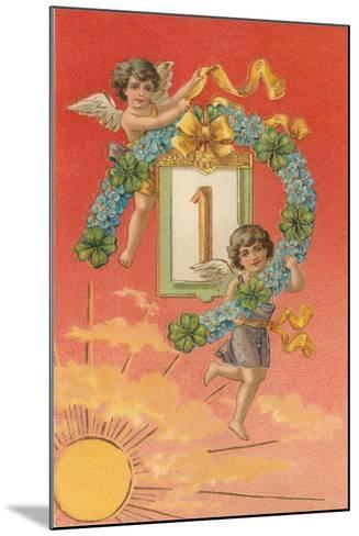 Cherubs Unveil January First--Mounted Art Print