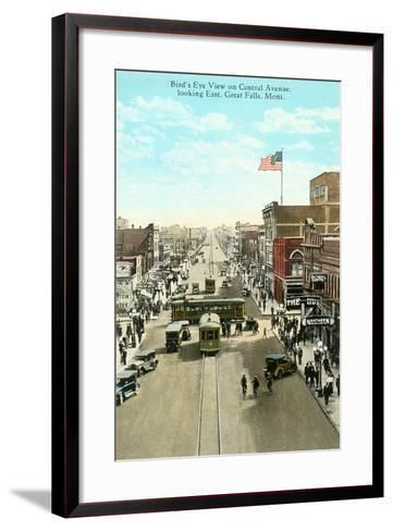 Downtown Great Falls--Framed Art Print