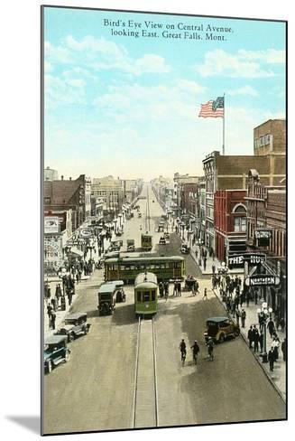 Downtown Great Falls--Mounted Art Print