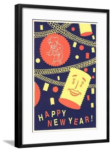 Happy New Year from Pasta--Framed Art Print