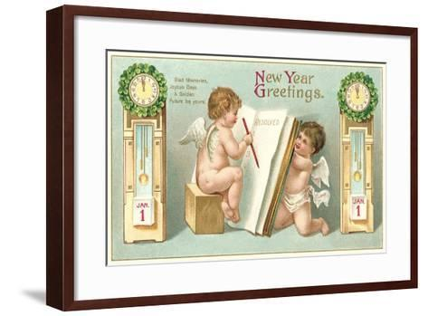 Vintage Greetings, Angels--Framed Art Print