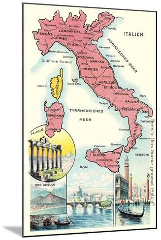 Map of Italy--Mounted Art Print