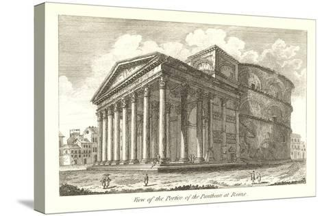Pantheon Portico, Rome--Stretched Canvas Print