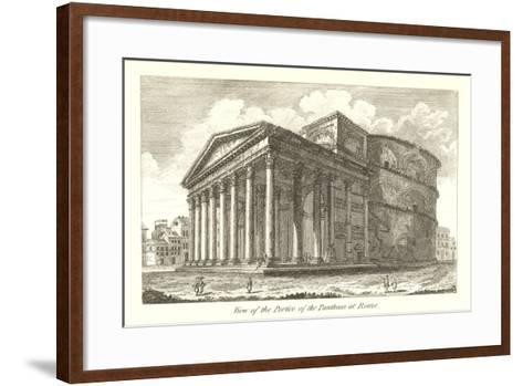 Pantheon Portico, Rome--Framed Art Print