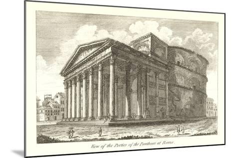Pantheon Portico, Rome--Mounted Art Print