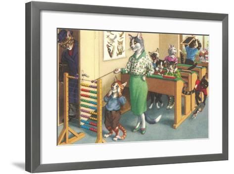 Crazy Cats at School--Framed Art Print