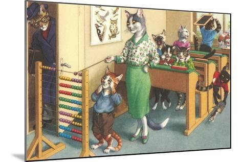 Crazy Cats at School--Mounted Art Print