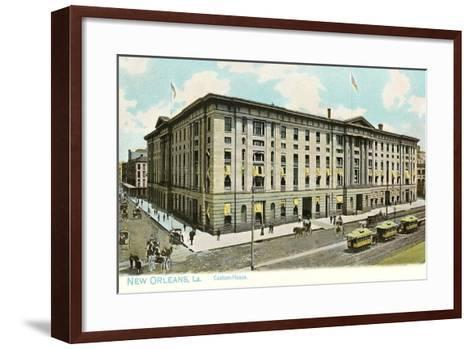 Custom House, New Orleans--Framed Art Print