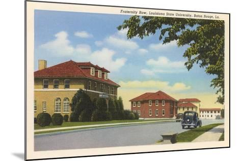 Fraternity Row, LSU, Baton Rouge--Mounted Art Print