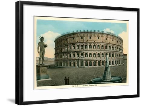 Rome, Italy, Rendering of Restored Coliseum--Framed Art Print