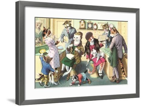 Crazy Cats at the Jewelry Store--Framed Art Print