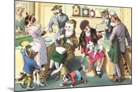Crazy Cats at the Jewelry Store--Mounted Art Print