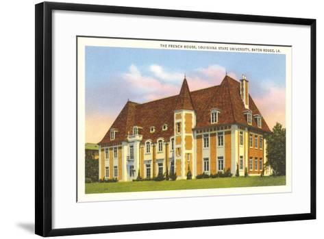 French House, LSU, Baton Rouge--Framed Art Print