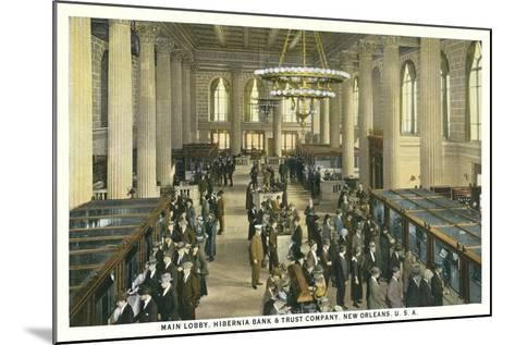 Lobby, Hibernia Bank and Trust, New Orleans--Mounted Art Print