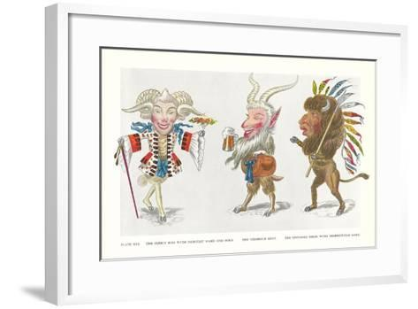Mardi Gras Costumes--Framed Art Print