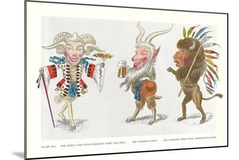 Mardi Gras Costumes--Mounted Art Print