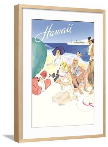 Hawaii Travel Poster--Framed Art Print