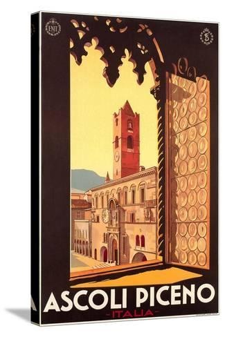 Travel Poster for Ascoli Piceno--Stretched Canvas Print