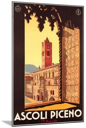 Travel Poster for Ascoli Piceno--Mounted Art Print