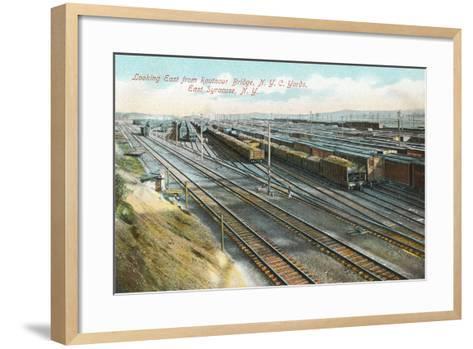 Syracuse Rail Yards--Framed Art Print