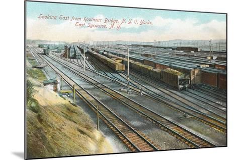 Syracuse Rail Yards--Mounted Art Print