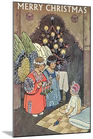 Child Angels Visiting Infant--Mounted Art Print