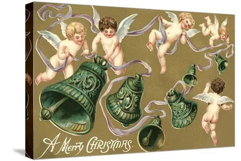 Cupids and Bell--Stretched Canvas Print