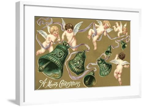 Cupids and Bell--Framed Art Print